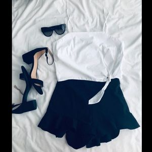Express crop top with side knot feature